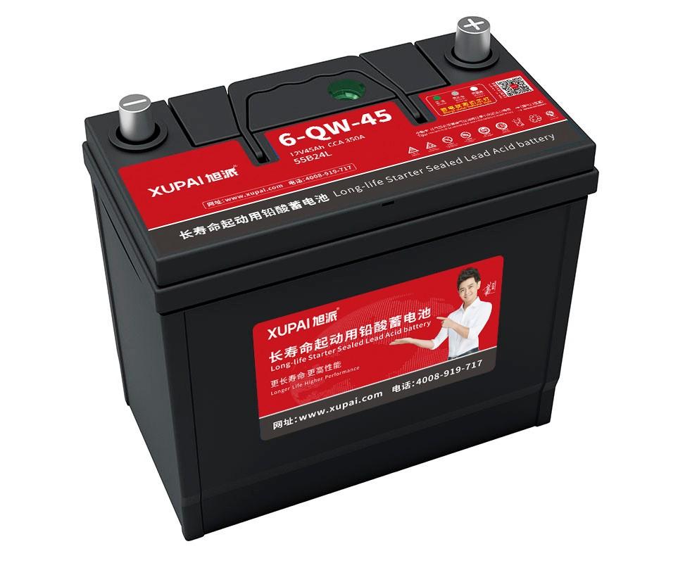 旭派6-QW-45-(55b24L)長壽命汽車電瓶