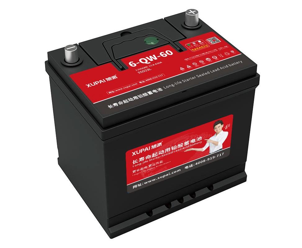 旭派6-QW-60-(55D23L)长寿命汽车电瓶