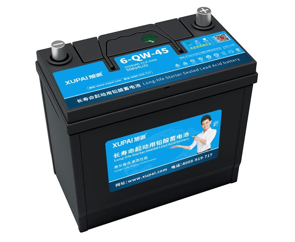 旭派6-QW-45 55b24L(S)长寿命汽车电瓶