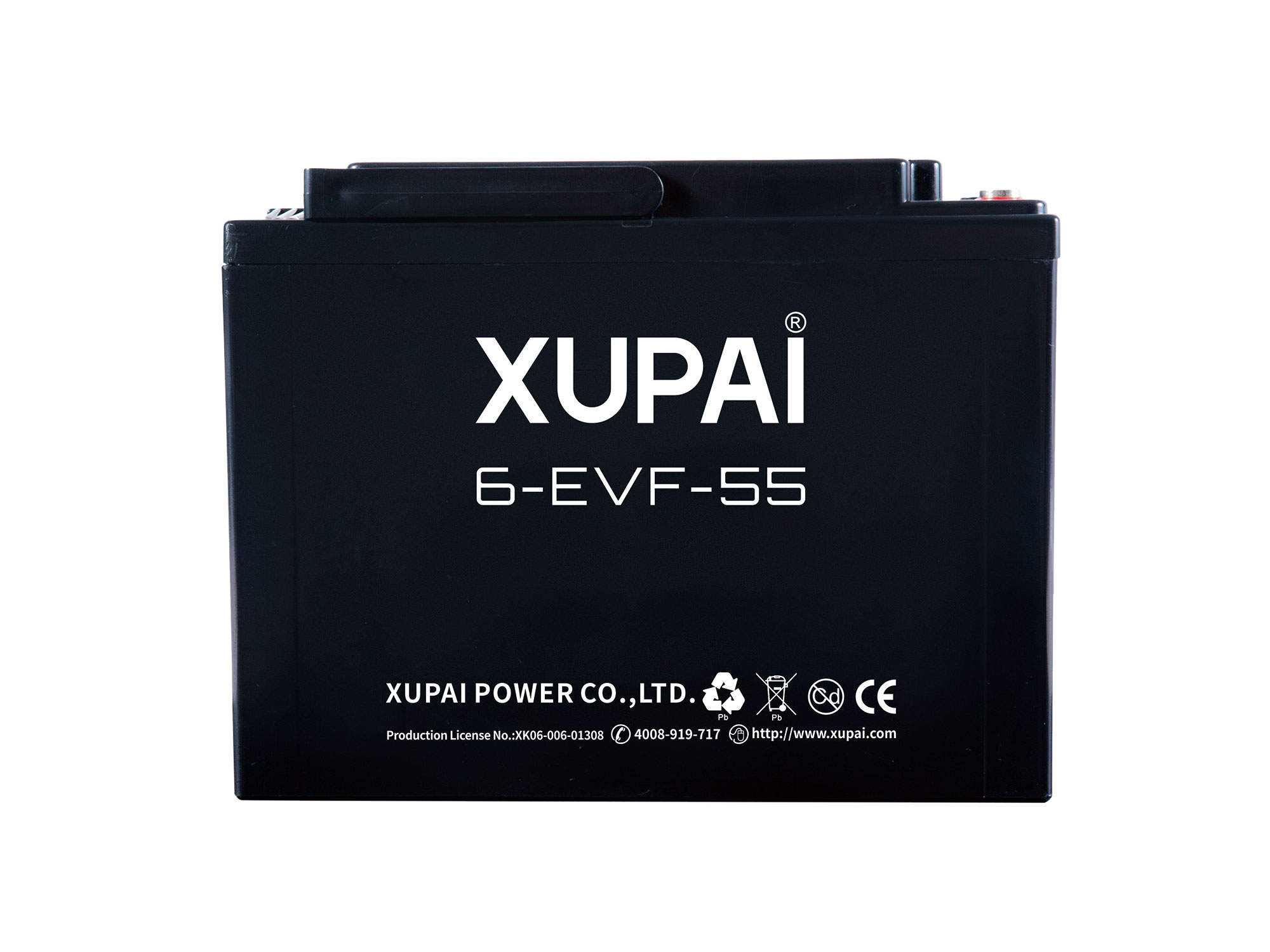 XUPAI 6-EVF-55 Lead acid batetry electric bicycle battery electric bike battery