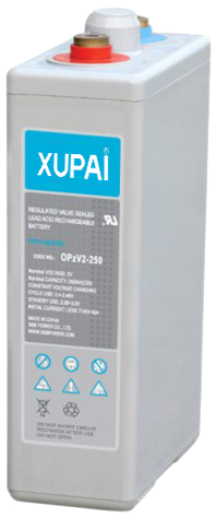 XUPAI OPzV2-250  tubular battery  vrla AGM battery telecom battery
