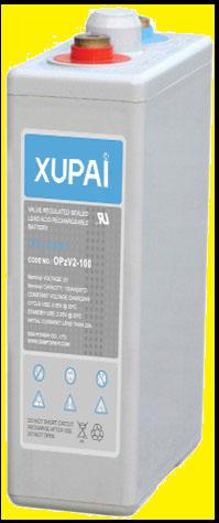 XUPAI OPzV2-100  tubular battery  vrla AGM battery telecom battery