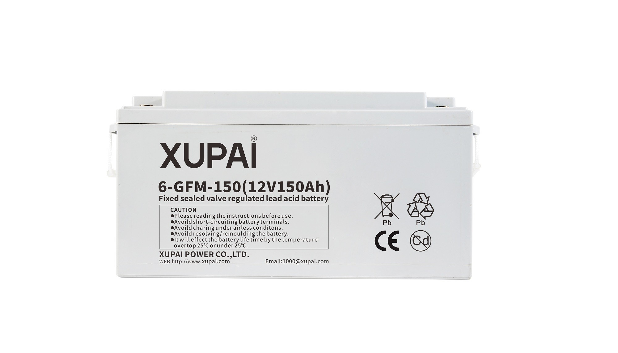 XUPAI 6-GFM-150 long life backup  base station battery