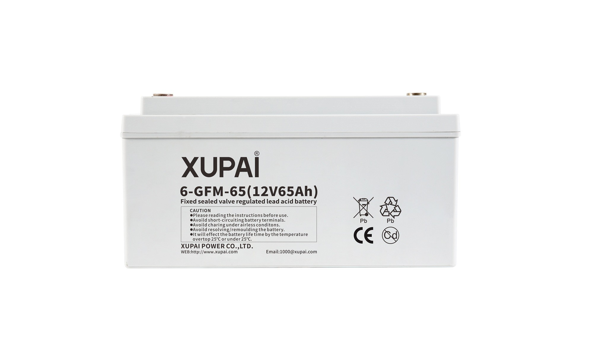 XUPAI 6-GFM-65 long life backup  base station battery