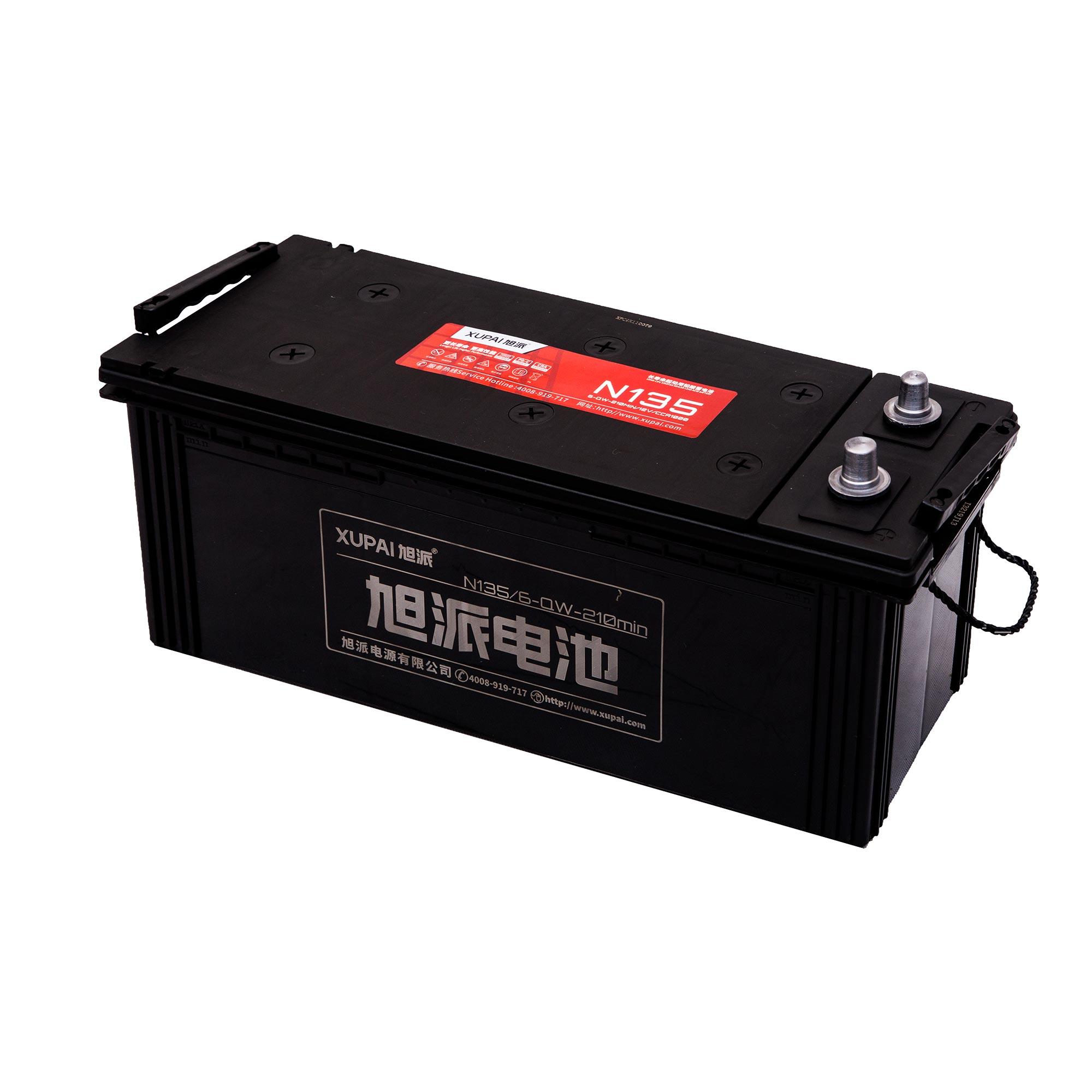 旭派6-QW-210MIN/N135长寿命汽车起动电池